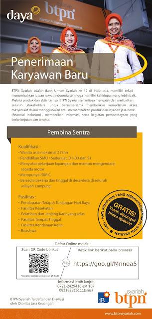Dibutuhkan Segera di Bank BTPN Syariah Bandar Lampung Terbaru Februari 2018