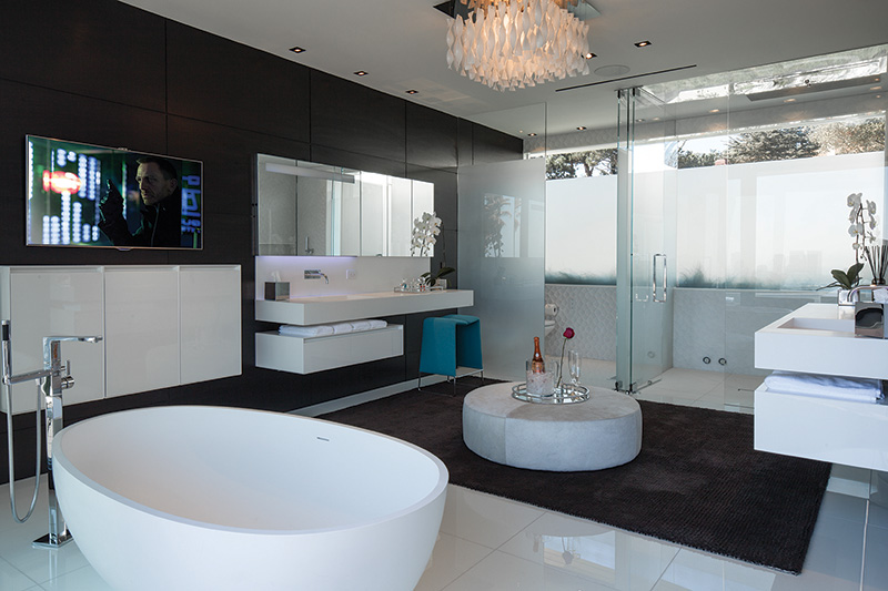 modern mansion master bathroom. PART TWO: Modern Mansion With Wrap Around Pool And Glass-Walled Garage For  $36 Million. (50 Pics) \u2013 If It\u0027s Hip, Here Modern Mansion Master Bathroom T