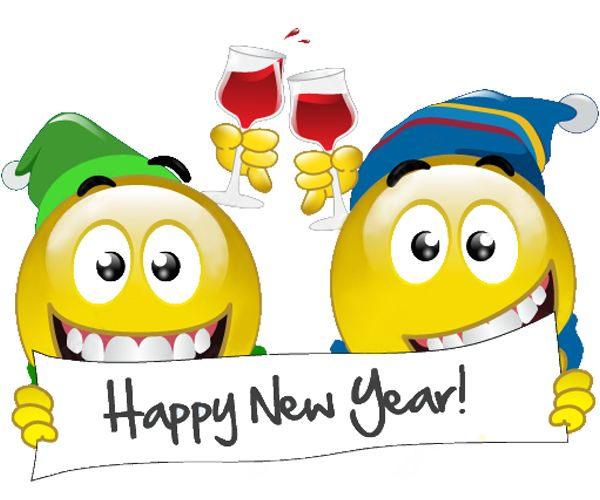 New Year Emoji And Emoticons