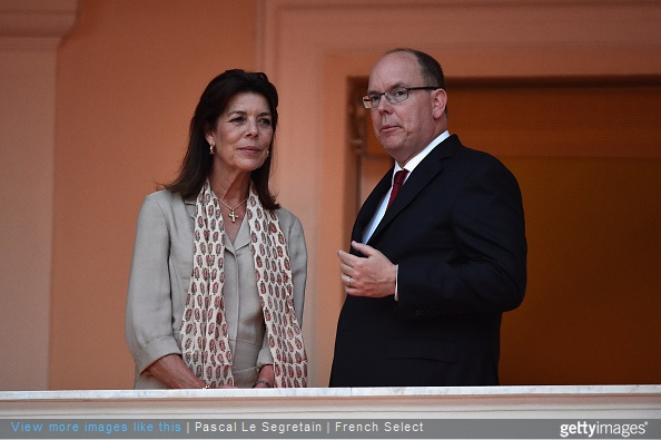 Princess Caroline of Hanover and Prince Albert II of Monaco attend the 'Fete de la St Jean' procession on June 24, 2015 in Monaco, Monaco