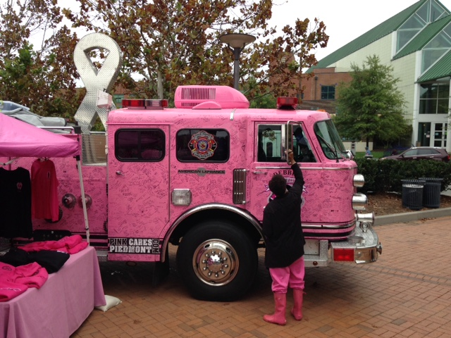 2015 iPhone 365 Day Challenge: Pink Firetruck with Names of