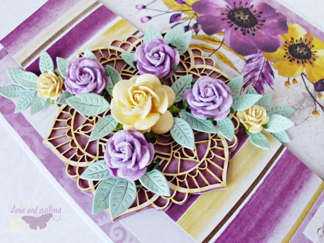 fioletowe i żółte róże
