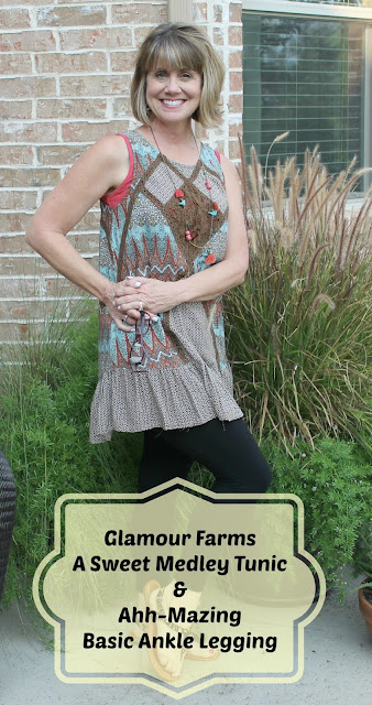 tunic and leggings, what to wear with leggings, fashion transition summer to fall, what to wear from summer to fall, how to wear a tunic, Glamour Farms