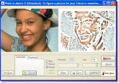 تحميل برنامج تحويل الصور الى كارتون 2014 photo to sketch download