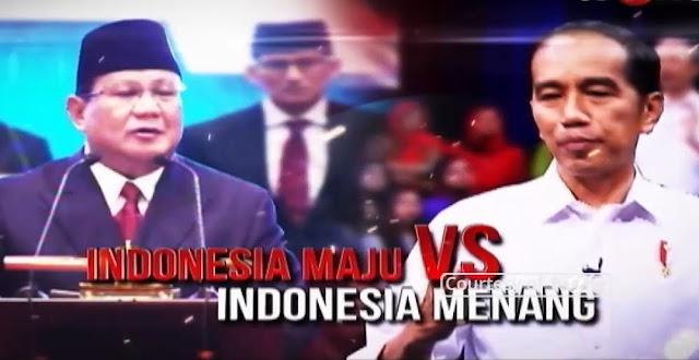 Indonesia Maju Versus Indonesia Menang