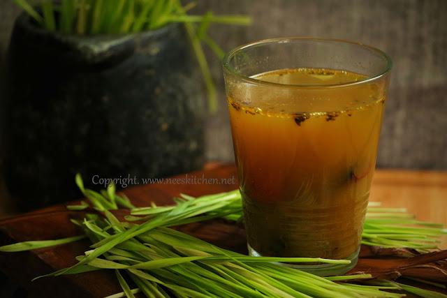 Wheatgrass rasam