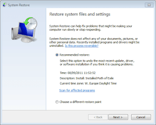 Cara System Restore di Windows 10