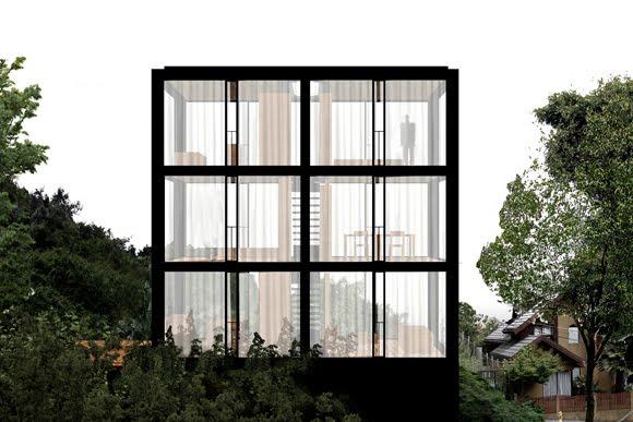the arco house pezo von ellrichshausen architects. Black Bedroom Furniture Sets. Home Design Ideas