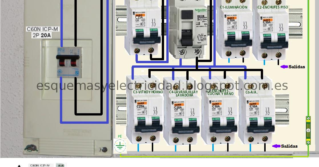 Cableado cuadro electrico vivienda perfect montaje y for Caja cuadro electrico