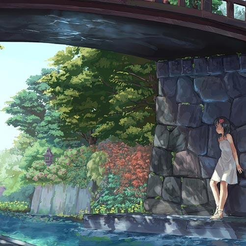 The Girl Under The Bridge Wallpaper Engine