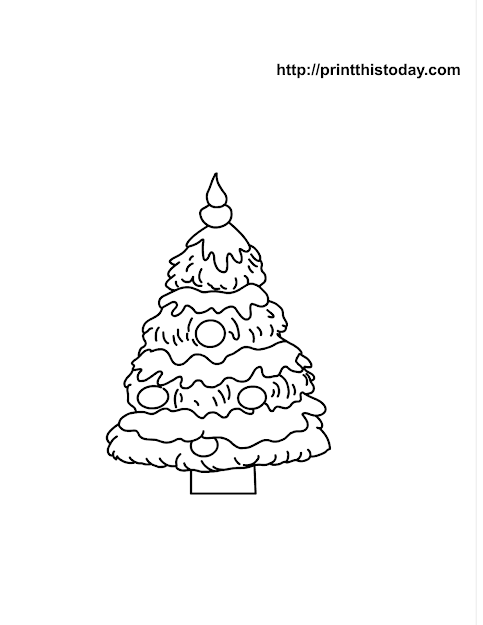 Free Printable Christmas Tree Coloring Page