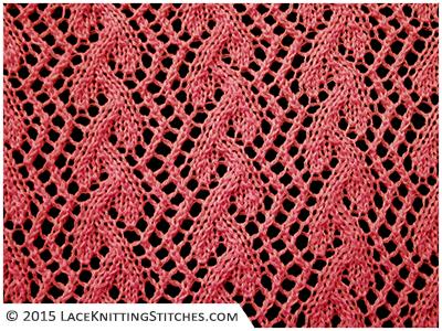 LACE KNITTING No.4 | Trellis Grapevine stitch