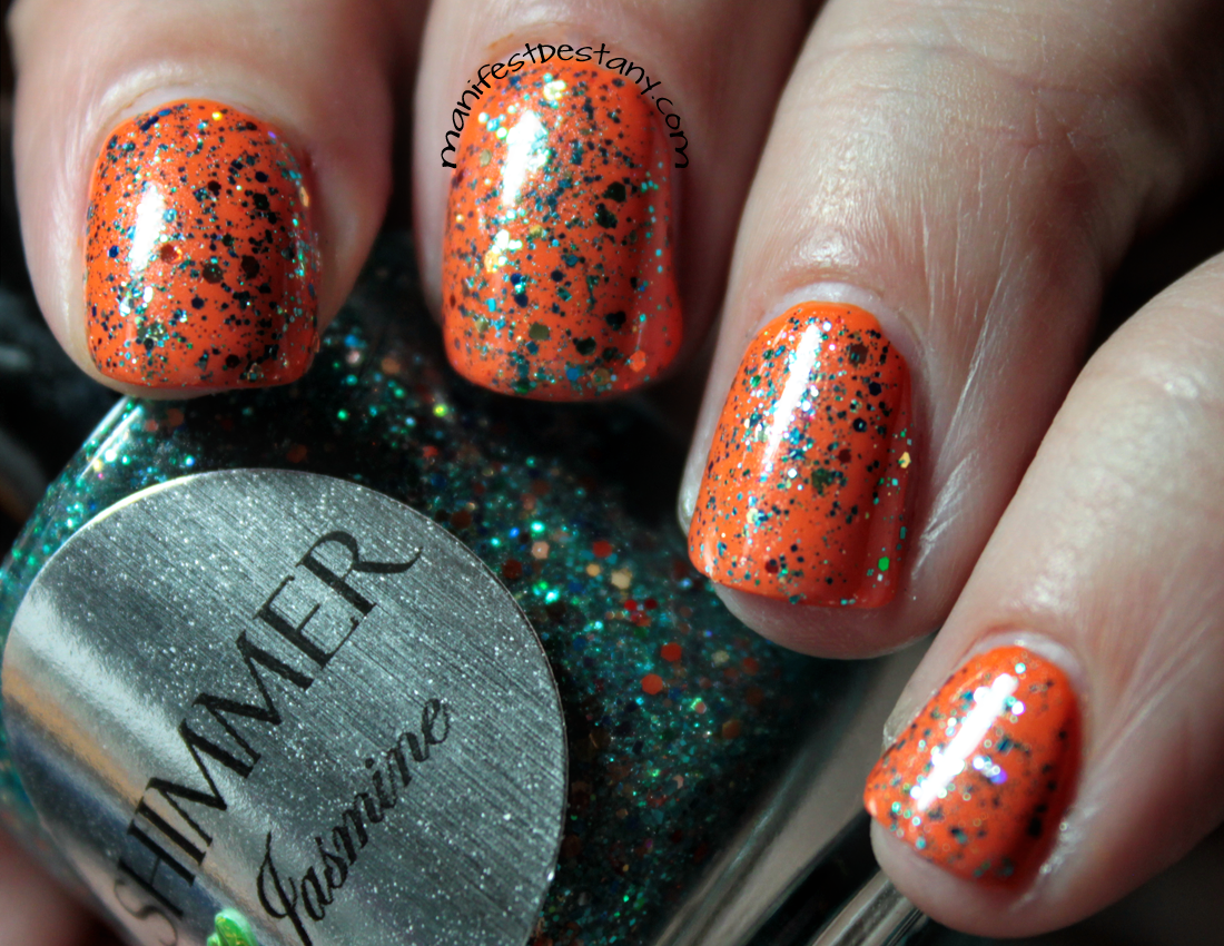 Shimmer Polish Jasmine swatches+review