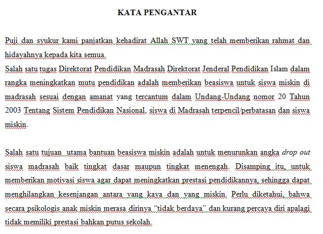 Download Contoh Laporan Realisasi Penggunaan Dana BSM Madrasah Ibtidaiyah Anggaran Tahun 2016 Format Microsoft Word