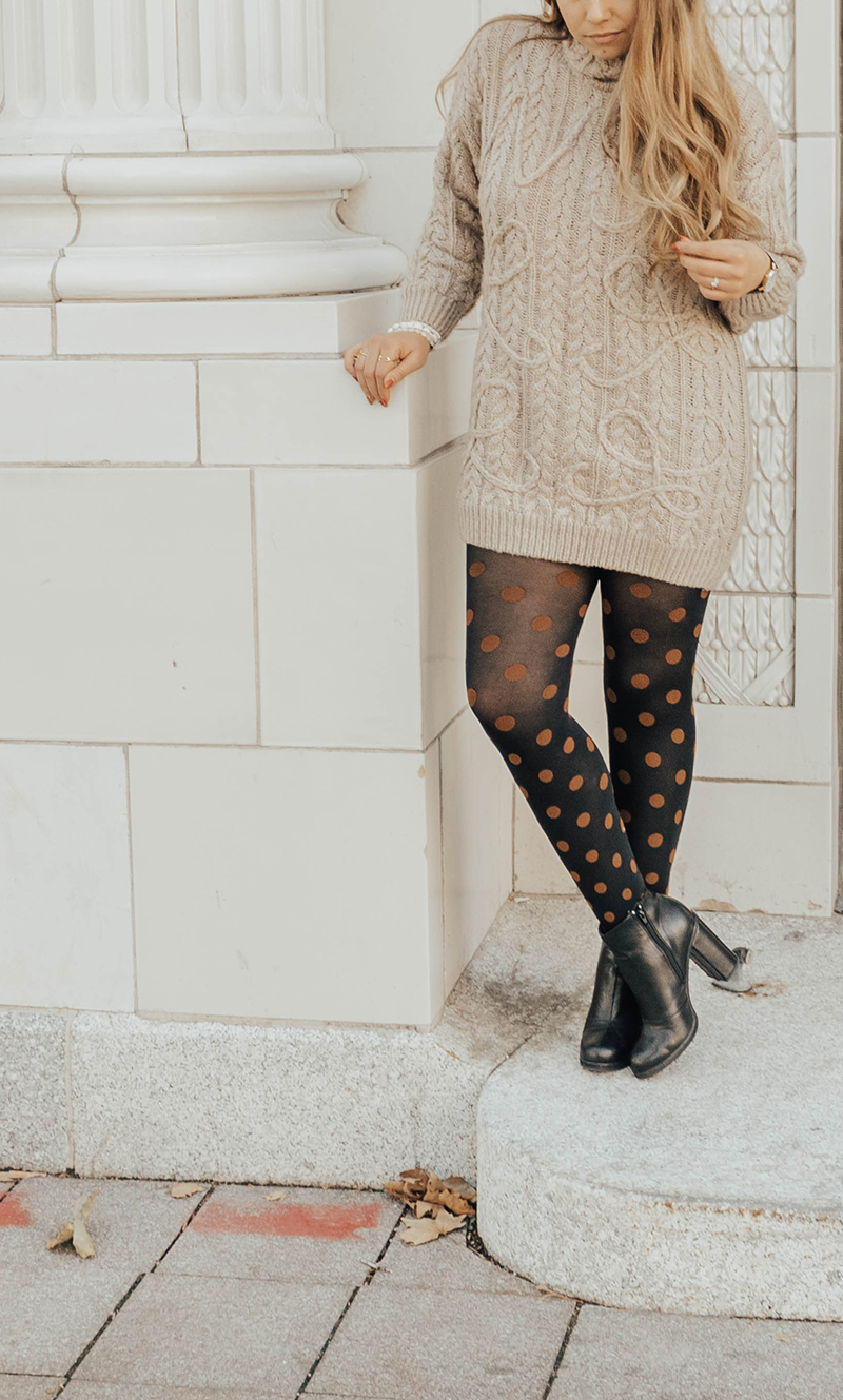 colorful polka dot tights, utah blogger, lauryncakes