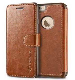sebuah smartphone yang terpasang dompet