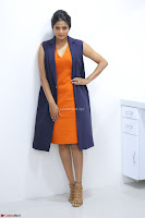 Priyamani in Beautiful Short Deep neck Orange Dress ~  Exclusive 13.JPG