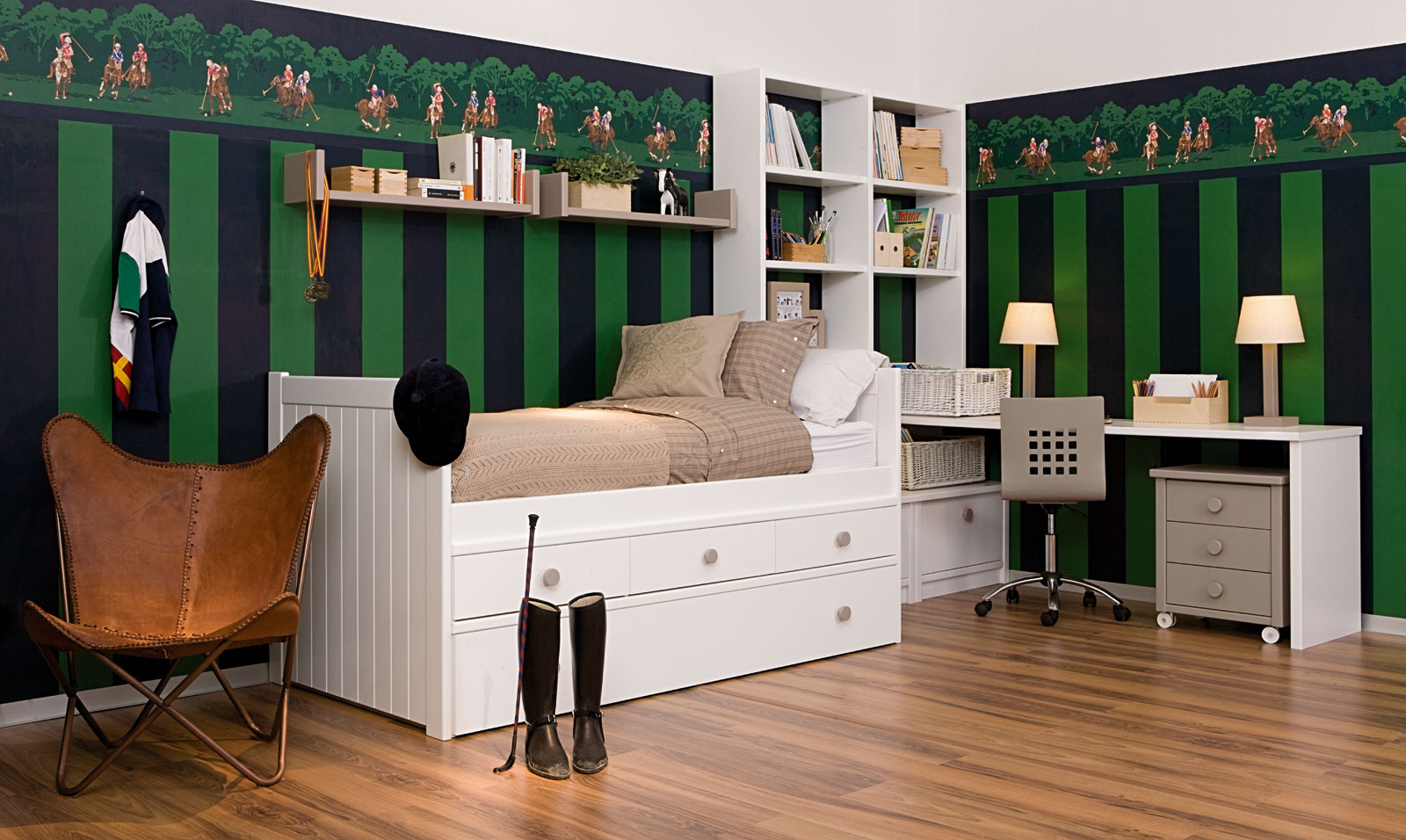 10 dormitorios juveniles modernos ideas para decorar - Paredes decoradas modernas ...
