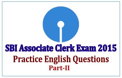 SBI Associate Clerk Exam 201