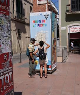 Mapa de la Festa Major de Gràcia (Barcelona) per Teresa Grau Ros