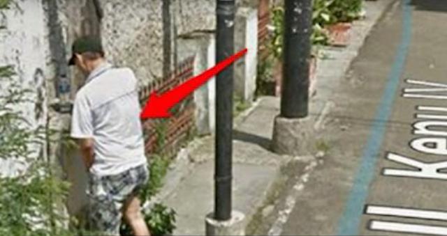 Google Street View tangkap lagi pipis