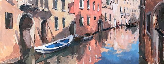 #414 'Venice Reflections' 20x50cm