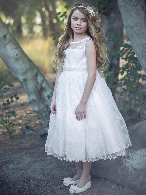 vestidos de primera comunion con manga larga