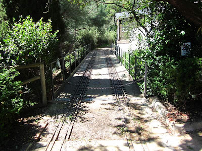 Railway of Oreneta Park in Barcelona