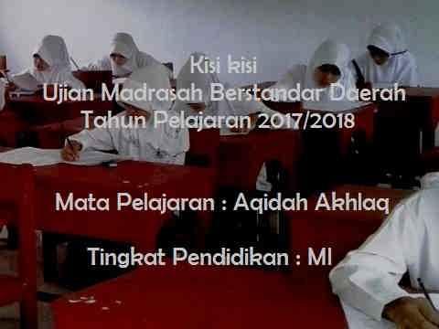 Akidah Akhlak : Kisi kisi UAMBD MI 2018