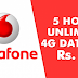 Vodafone - Recharge with 26 and Get Unlimited 3G/4G Data Between 1AM - 6AM