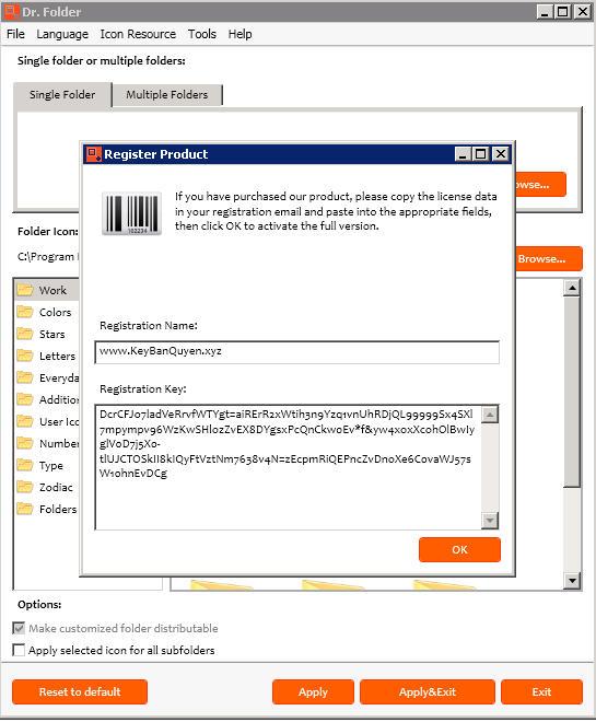Dr. Folder 2.6.1.0 Full Key, Phần mềm giúp chuyển màu sắc của thư mục.