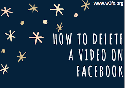 How to delete a video on Facebook