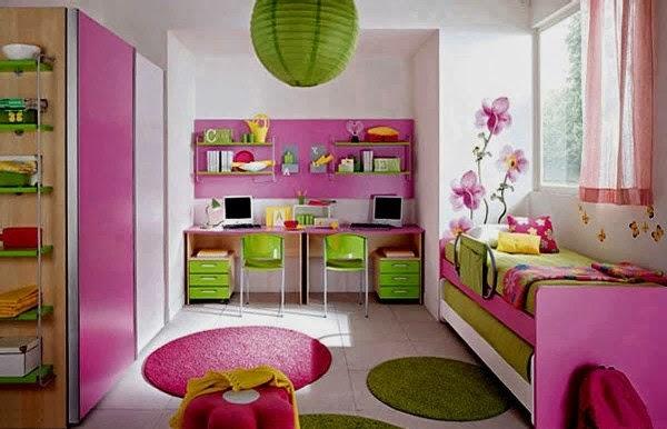 Kamar tidur minimalis moderen untuk anak perempuan