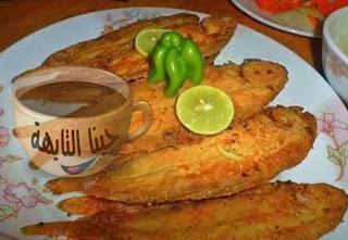 طريقة عمل  صينية سمك بربونى بالفرن للشيف شربيني بالشبت والليمون