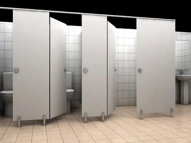 Vách ngăn vệ sinh ra đời giúp thay thế những bức tường ngăn thô cứng và tốn nhiều diện tích, giúp không gian tế nhị này trở nên thoải mái hơn