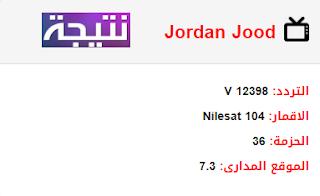 تردد قناة جود الاردن Jordan Jood الجديد 2018 على النايل سات
