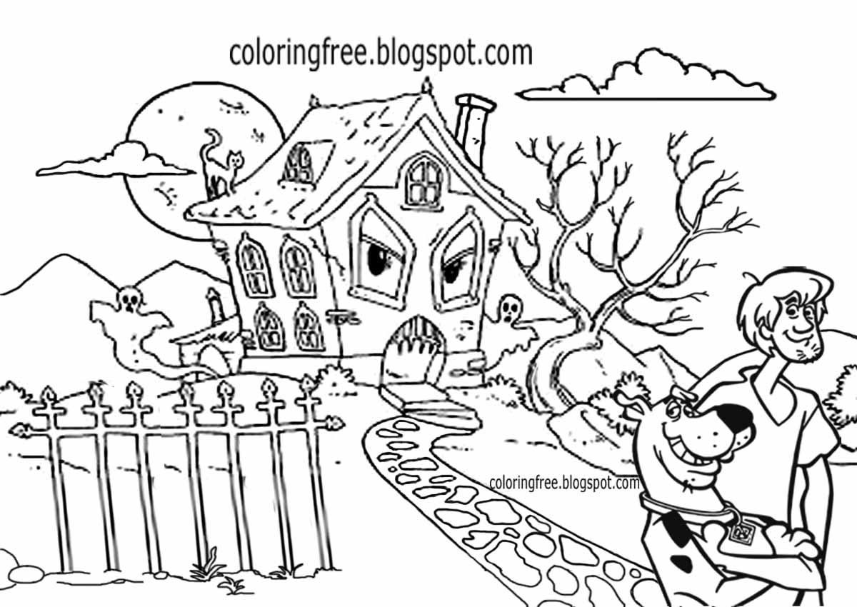 Bump In The Night Coloring Pages