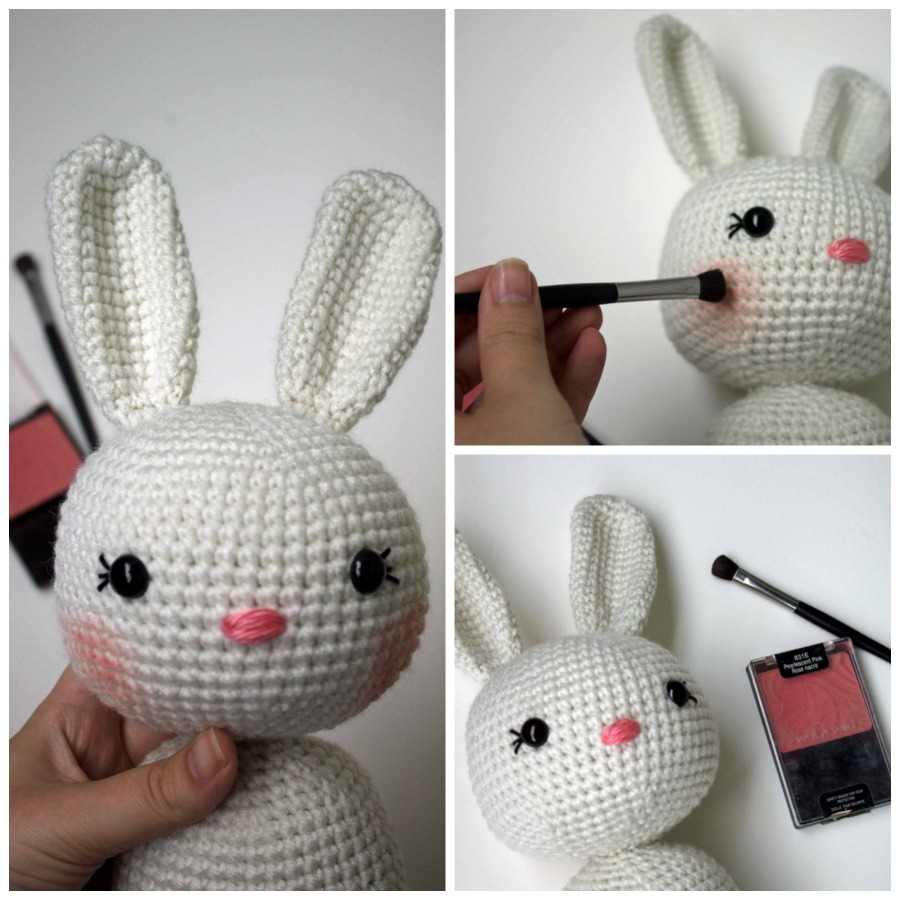 Best amigurumi tips and tricks for doll faces the friendly red fox i love how fun and girly a little blush gives a project i had tried a crayon before and while that does work ccuart Image collections