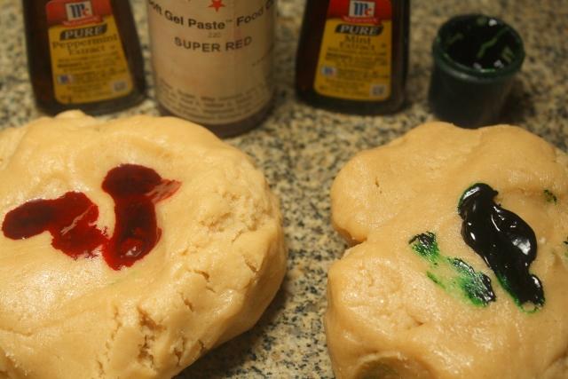 Rueditas de menta (galletitas) / Mint pinwheel cookies/ christmas cookies / galletas navideñas
