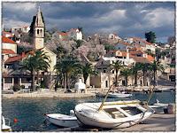 Cvjetanje badema Splitska slike otok Brač Online