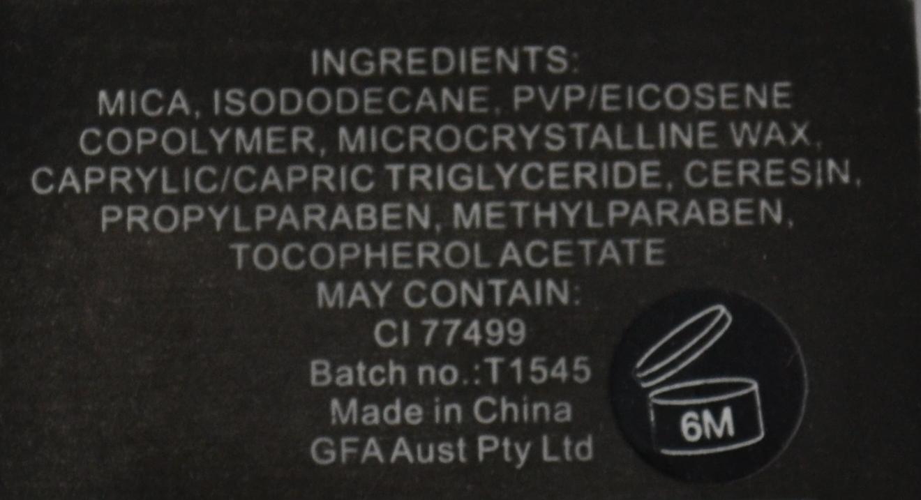 BYS Black Magic Eyeliner ingredients