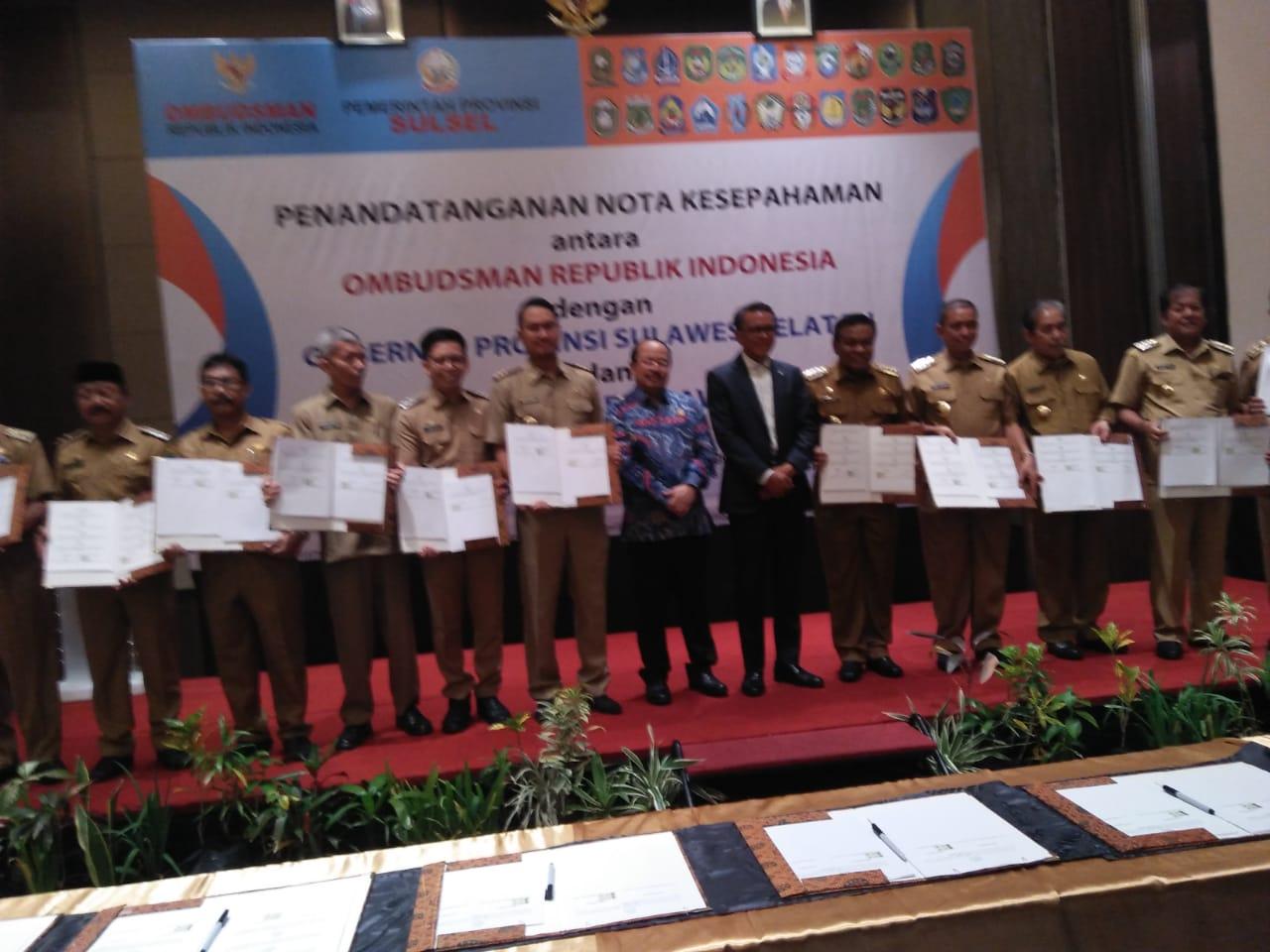 Tingkatkan Pelayanan Publik, Bupati Sinjai Teken MoU dengan Ombudsman RI