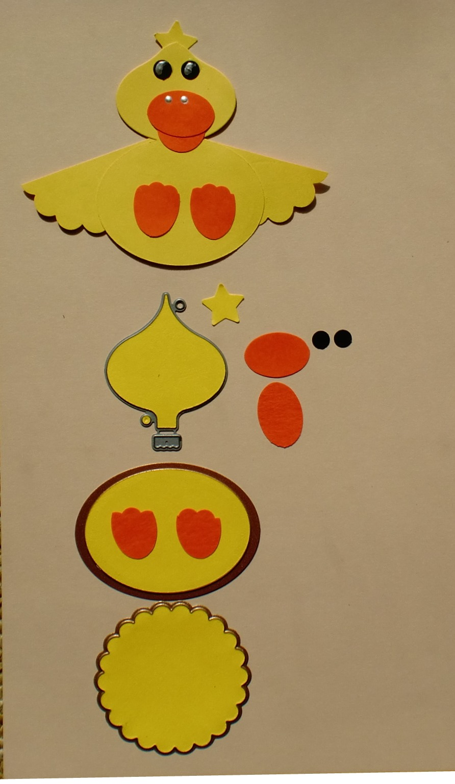 Charmingly Creative Punch Art Duck Cracked Egg Amp Chicken