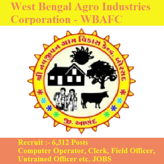 West Bengal Agro Industries Corporation, WBAFC, WBAFC Admit Card, Admit Card, wbafc logo