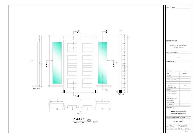 Detail Kosen Rumah Lantai 1  Type P1