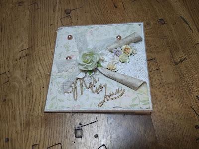 Wywinięta kartka na ślub