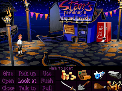 video game - The Secret of Monkey Island - Stan's Previously Owned Vessels