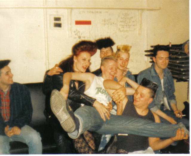 TORMENT & DEMENTED ARE GO! backstage at The Klub Foot 1986.