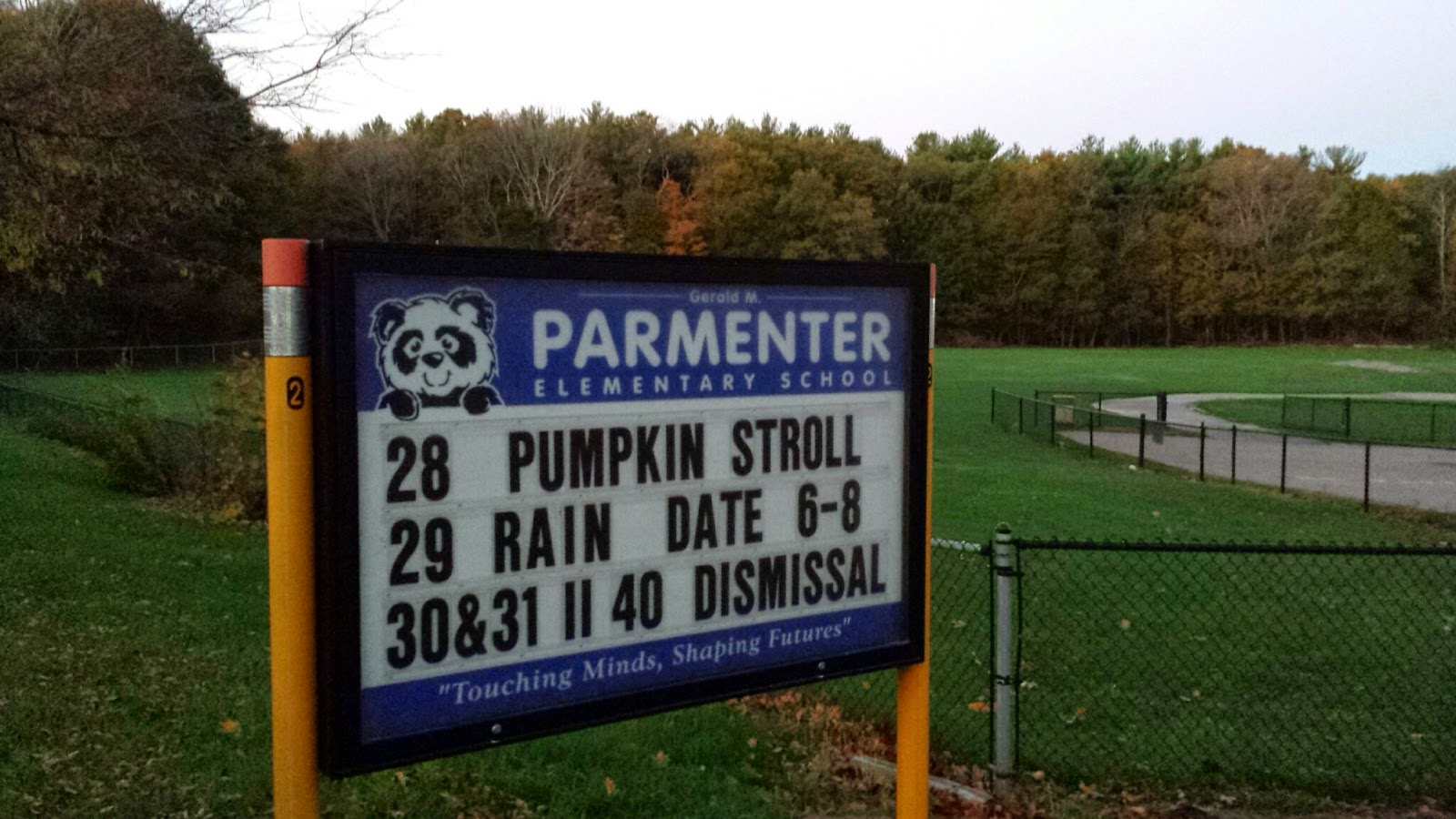 pumpkin stroll at Parmenter today