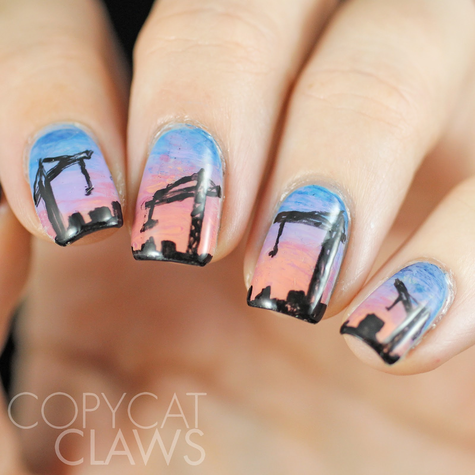 Copycat claws construction crane nail art prinsesfo Image collections